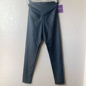 Yummie Black Faux Leather high waisted leggings